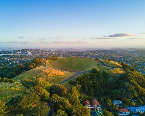 14. Mount Eden volcano in Auckland, New Zealand